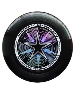 Disco o Frisbee Negro Discraft Ultra-Star 175 g Profesional