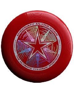Disco o Frisbee Rojo Intenso Discraft Ultra-Star 175 g Profesional