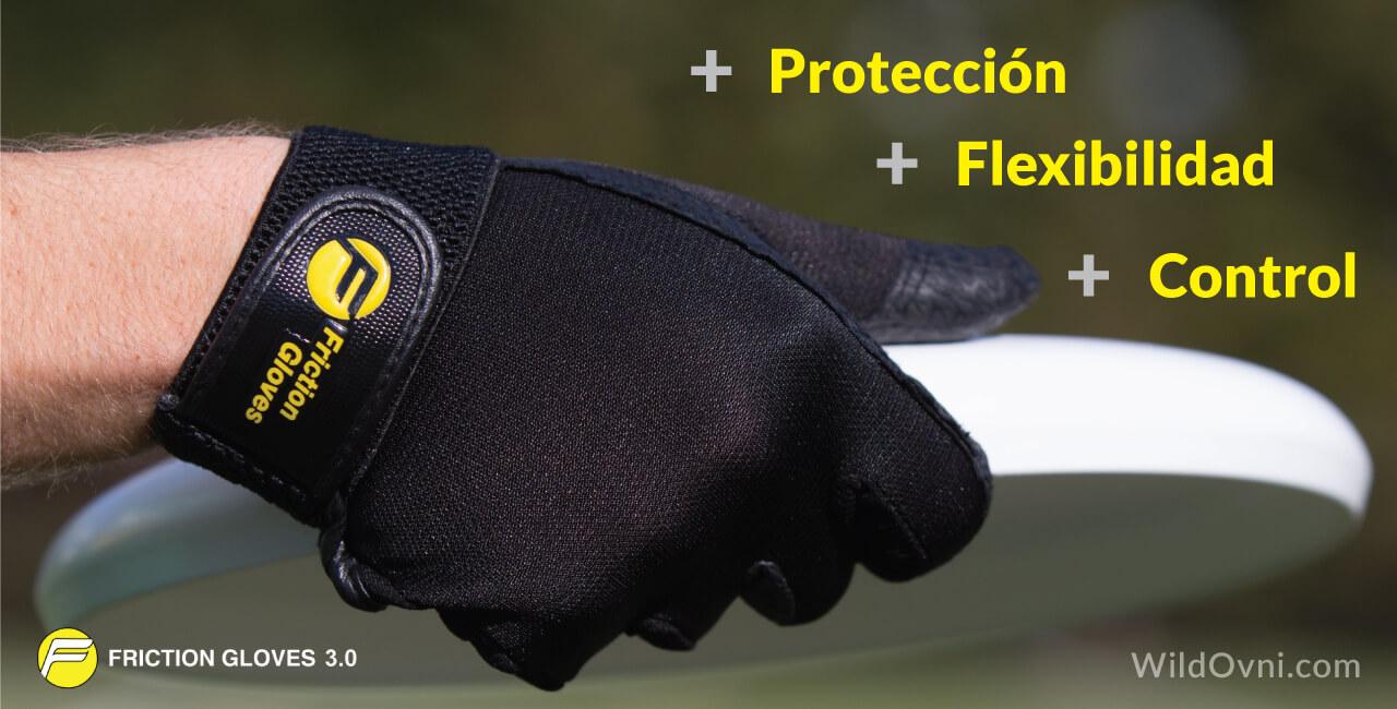 Guantes friction gloves 3, profesionales y especializados para la práctica de últimate frisbee